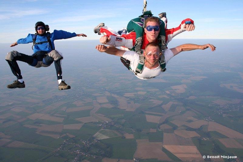 saut en parachute tandem - chute libre - belgique